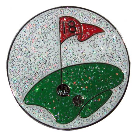 Navika Glitzy Ballmarker &quote;18th Hole&quote;