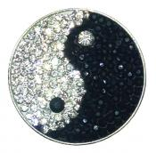 Navika Micro Pavé Crystal Ballmarker &quote;Yin to My Yang&quote;