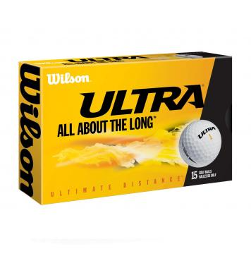 Wilson Staff Golfball Ultra Ultimate Distance, 15 Stück, weiß