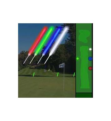 Leuchtende Golf Fairwaymarkierung, 6er Pack